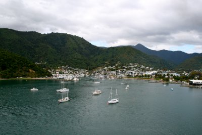Coming into the Picton Harbor