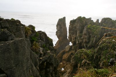Pancake rocks, this is where they reminded me of the Twelve Apostles