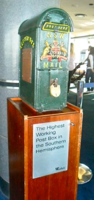 Worlds HIghest working Post Box in the Southern Hemisphere
