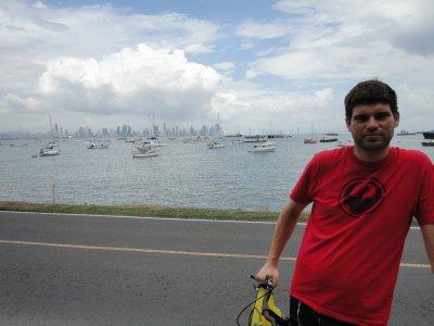 vidar på sykkeltur