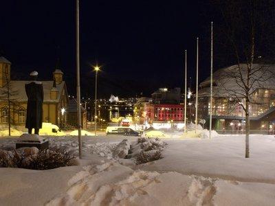 Vista de Tromso às 3h da tarde