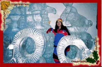 ICE STUFFS!! Carved from ICE!!