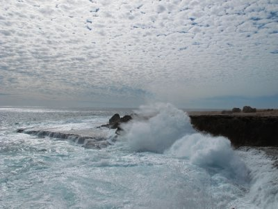 Rough seas at Quobba point