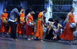 Alms Giving to the Monks of Luang Prabang, Laos