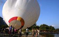 Hot Air Ballooning over Vang Vieng