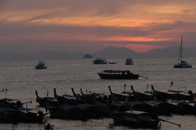 Sunset from Ao Nang beach.