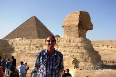 Glynn with the Great Sphinx