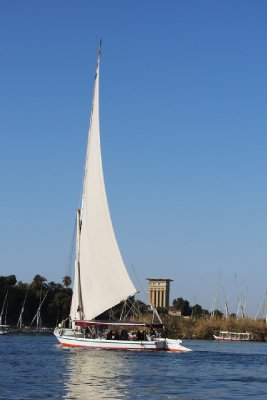 A felucca on the Nile, Egypt