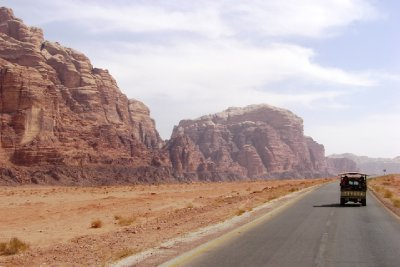 The entrance to Wadi Rum.