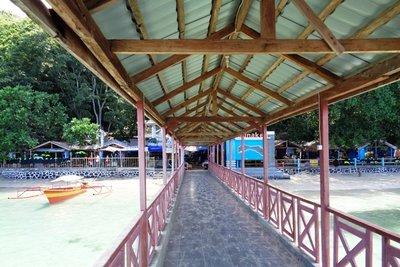 The main pier in Bunaken.