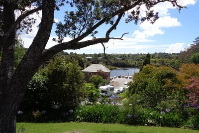 The Stone Store and the Kerikeri River.