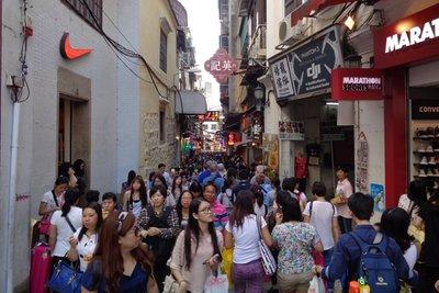 Saturday is shopping day in Macau.