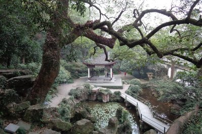A small pavilion on one of the island in the West Lake.