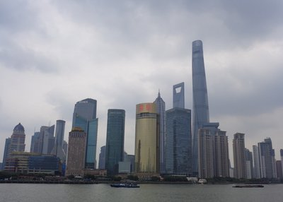The Pudong skyline.