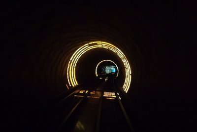 The weird tunnel under the Huang Pu to Pudong.