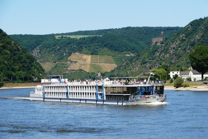 One of the many river cruisers.