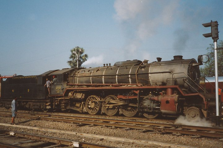 A WG 2-8-2 class locomotive, engine number 8704.
