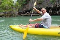 Me any my canoe.