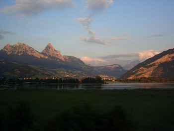 Road scenery to Zurich