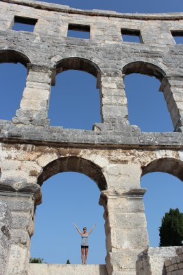 Enormous arches form the walls of the Amphitheater