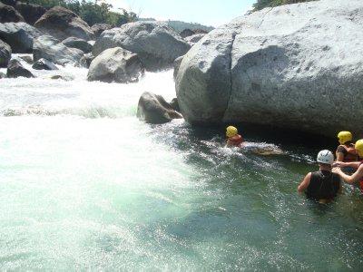 Aim up stream to cross down stream