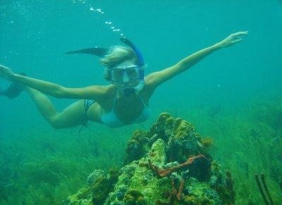 Ana snorkeling
