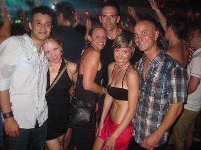 Friends we met out dancing at Carl Cox and Cream Amnesia (L-R: G, Laura, Erica, Jim)