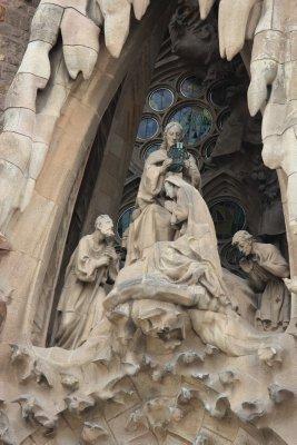 Sculptures on Sagrada Familia