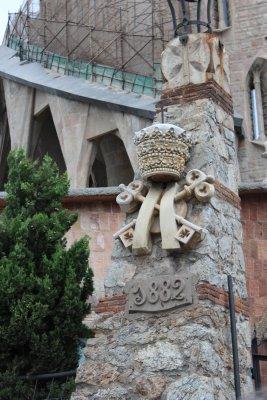 Gaudi began building in 1883