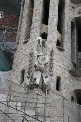 Amazing sculptures cover Sagrada Familia