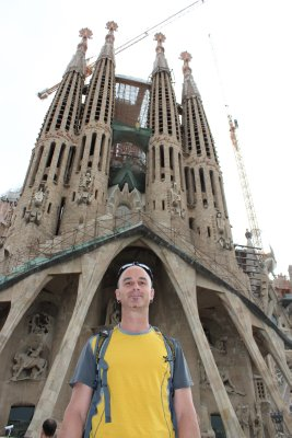 Andrew on the back side of Sagrada Familia