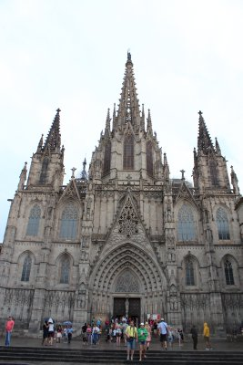 The Cathedral in the Gothic district of Barcelona