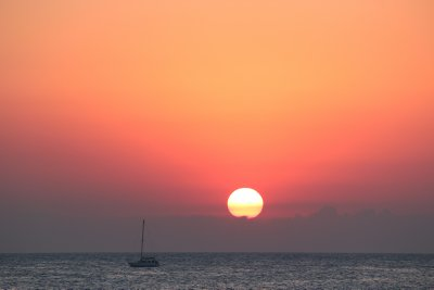 A beautiful sunset at Cafe del Mar