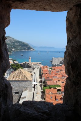 The view from little windows inside the forts