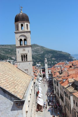 Towers and terracotta rooftops
