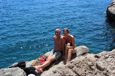 The A-Team sunning on the cliff-tops