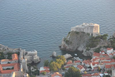 A bay, protected by a for on one side and the city walls on the other