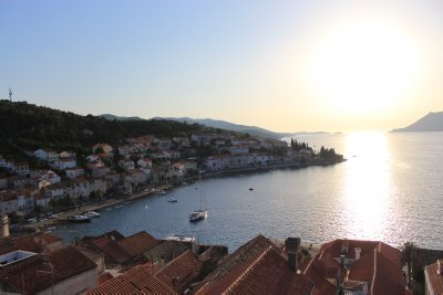 The town and bay of Korčula