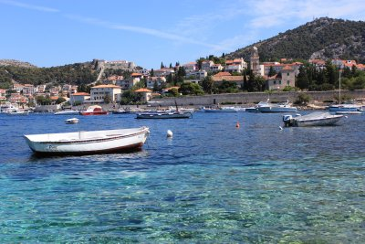 Beautiful clear waters around Hvar
