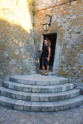 The slanted door that leads into Hvar's fortress