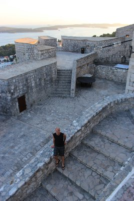 The large fortress overlooking Hvar