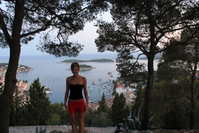 Ana and some of the Dalmatian coasts islands off the coast of Hvar