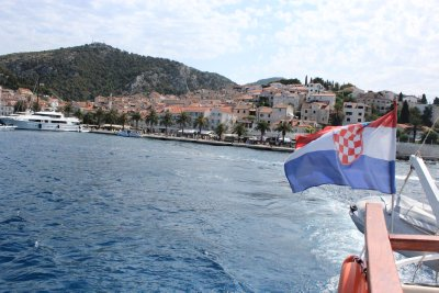 Leaving Hvar behind and heading to Bol, Brac