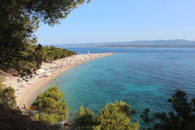The pointed tongue of Zlatni Rat