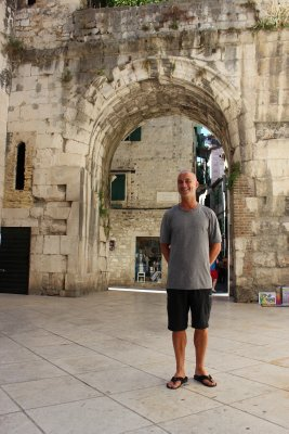 Andrew walking around old town Split