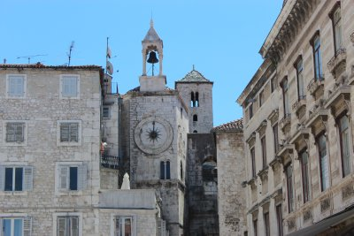 The clock tower in Split