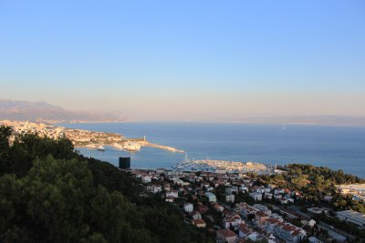 A hilltop view of Split