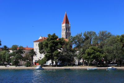 Trogir surrounded by a moat