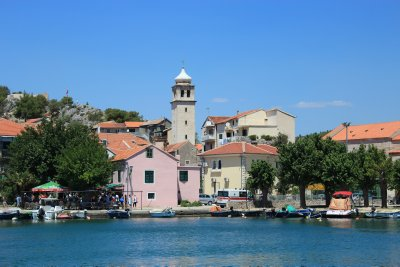 From Skradin you take a boat up the river