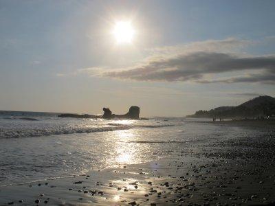 El Tunco's beach